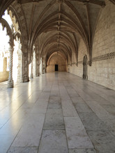 Jeronimos Monastery In Lisbon  - The Most Grandiose Monument To Late-Manueline Portuguese Style Architecture,  And Church Of Santa Maria Of Belem In Lisbon, Portugal