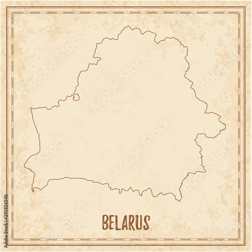 Fotografie, Obraz Pirate map of Belarus