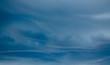 Leinwandbild Motiv Cloudy sky with unusual and rare clouds