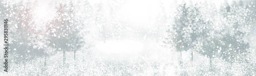 Wall Murals White white snow blur abstract background. Bokeh Christmas blurred beautiful shiny Christmas lights.