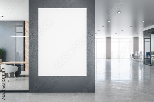 Photo sur Toile Pays d Asie Modern office interior with empty banner