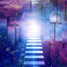 Steps Up Into Cosmos. Spiritua...