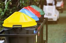 4 Deference Colors Of Waste Bi...