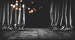 Leinwanddruck Bild - Dark magical theater stage background_001