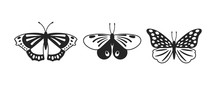 Butterflies Vector Glyph Illus...