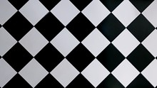 Black And White Checkered Floor Tiles, Abstract Background, Texture
