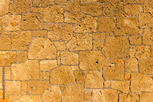 Background of old stone brick wall. - 295846566