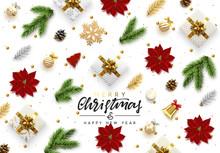 Christmas Background. Xmas Obj...