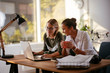 canvas print picture - Businesswomen discussing work in the office