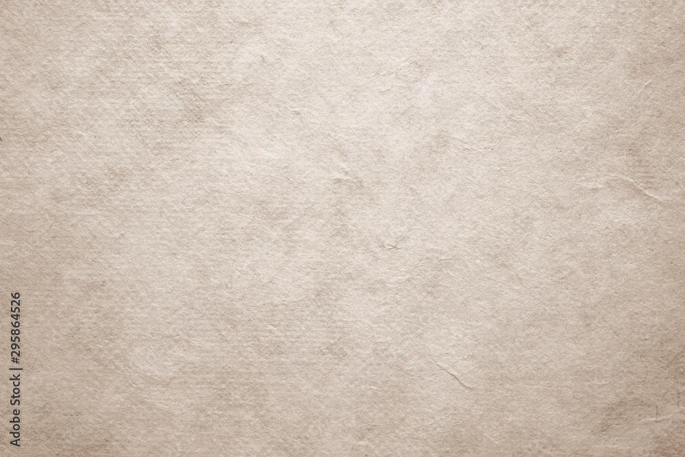 Fototapeta Brown handmade japanese paper texture background, banner, Vintage handmade paper in natural seamless pattern surface decorative design for background of backdrop, poster, wallpaper, scrapbook