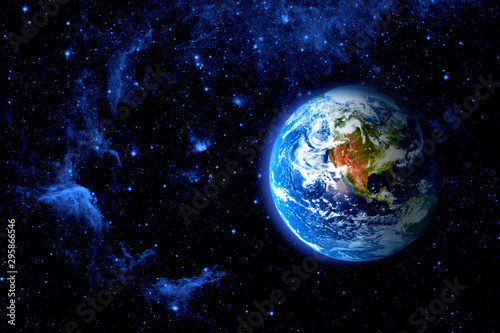 Obraz View of the earth from the moon. - fototapety do salonu