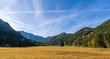 Leinwandbild Motiv Herbstlandschaft in Kärnten, Österreich