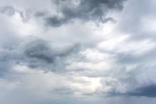 Dark Rainy Clouds With Some Li...