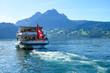 canvas print picture - Schiff bei der Schiffsstation in Kehrsiten, Nidwalden, Schweiz