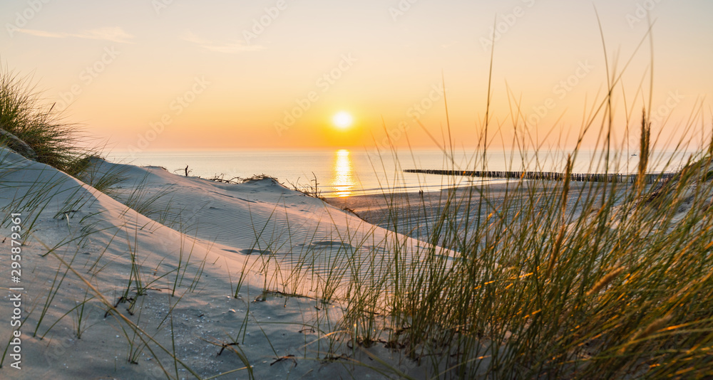 Fototapety, obrazy: Sunset at the Baltic Sea Beach