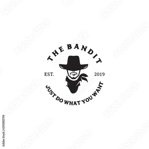 Fotografia The bandits logo design vector template