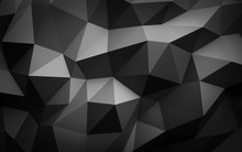 Dark Shades Of Grey Abstract Polygonal Background Illustration Texture Folded Paper 3d Render