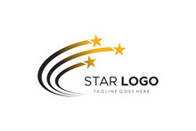 Star Logo Design Isolated On White Background Vector Logo Template