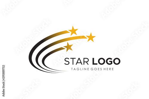 Fototapeta Star Logo Design isolated on white background Vector Logo Template