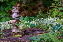 Mossy Rock Cairn