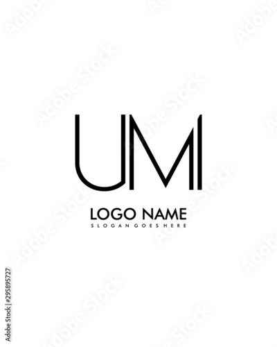 UM Initial minimalist abstract logo Canvas Print
