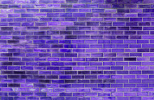 Abstract Purple Brick Wall Tex...