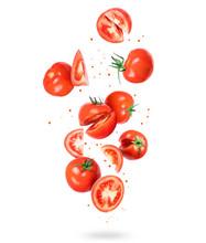 Whole And Sliced Fresh Tomatoe...