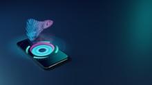 3D Rendering Neon Holographic ...