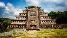 Pyramid De Los Nidos In Tajín...