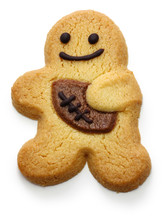 Gingerbread Rugby Man Isolated...