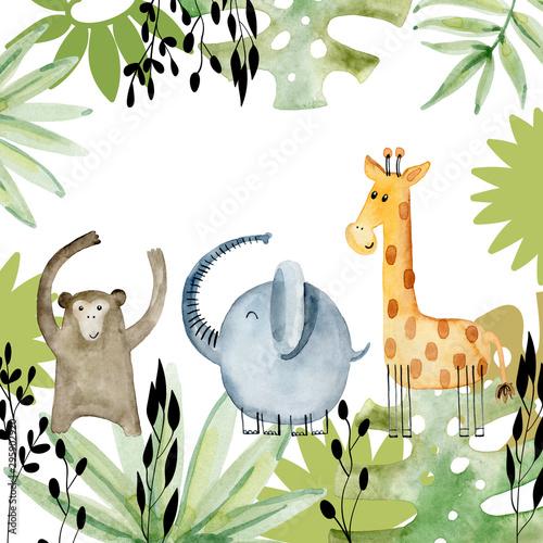 akwarelowe-ramki-safari