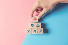 Health Insurance Concept, Hand...