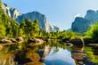 Leinwandbild Motiv Hiking in the Yosemite National Park USA