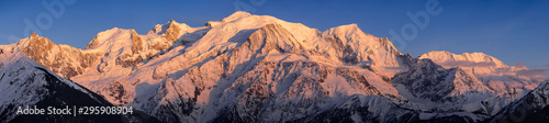 Mont Blanc mountain range at sunset Wallpaper Mural