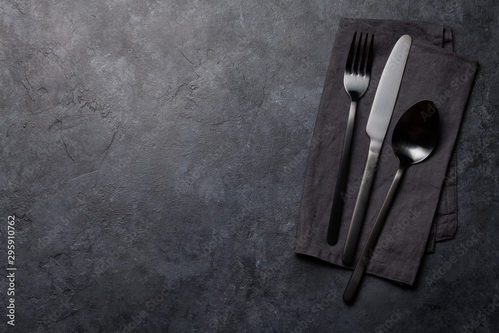 Fototapety, obrazy: Spoon, fork and knife