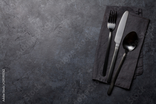 Spoon, fork and knife - 295910762