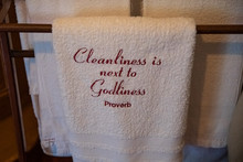 White Towel With Cleanliness I...