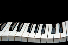 Piano Keys Creative On Black Background