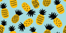Colorful Minimalistic Pineappl...