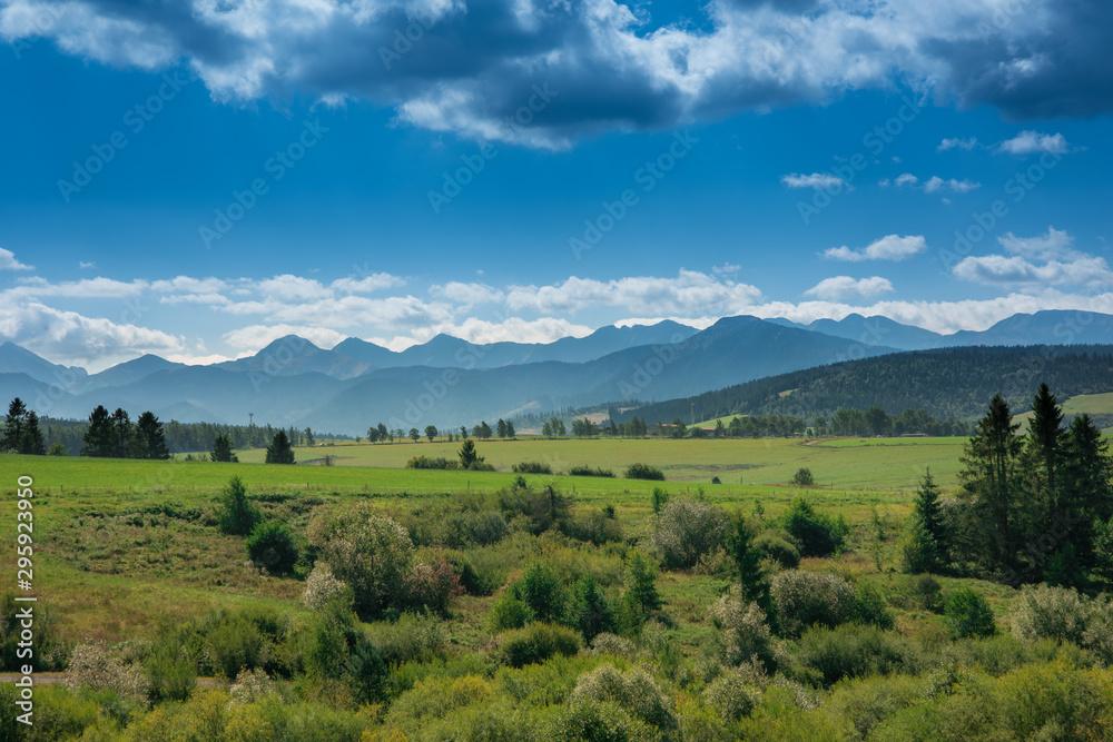 Breathtaking Tatra Mountains and green meadows of Slovakia <span>plik: #295923950 | autor: lukasz_kochanek</span>