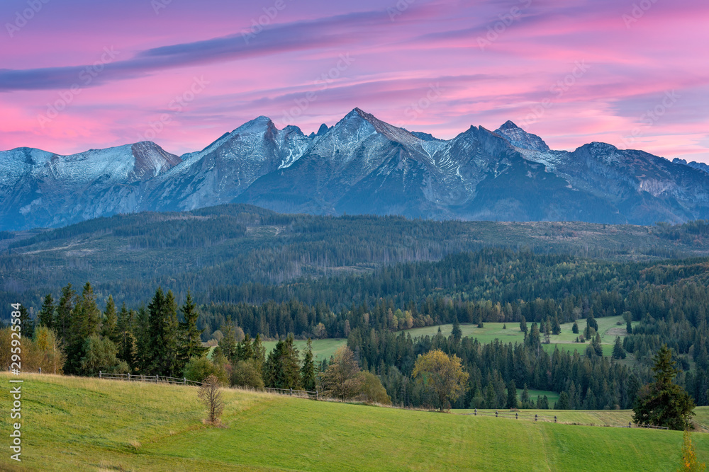 Fototapety, obrazy: Górski krajobraz, panorama Tatr