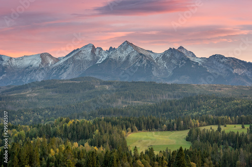 Mountain landscape, panorama of the Tatra Mountains Wallpaper Mural