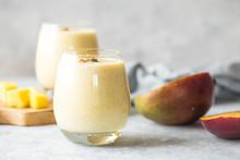 Yellow Mango Yogurt Or Smoothi...