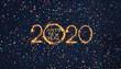 Leinwanddruck Bild - Greeting card Happy New Year 2020
