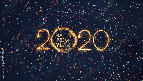 Photo Greeting card Happy New Year 2020