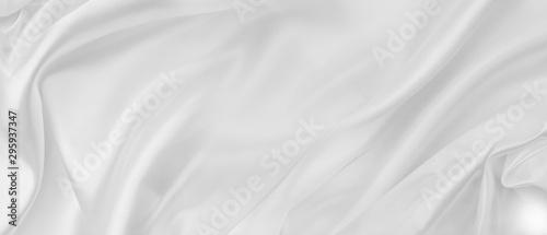 Fototapeta White silk fabric lines