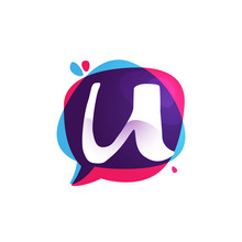 U Letter Chat App Logo At Colo...