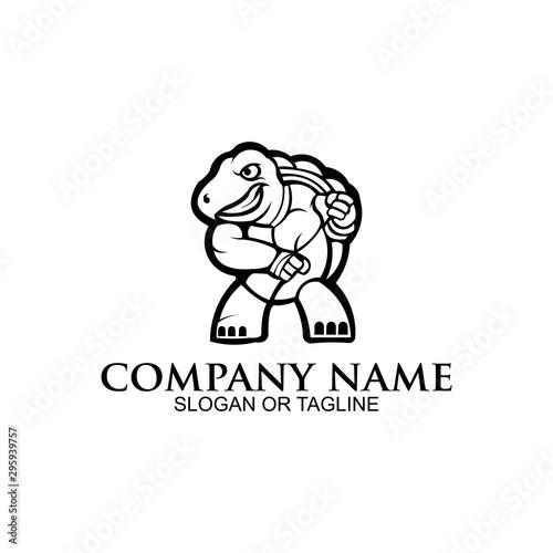 Fototapeta inspiration Angry ninja turtle mascot sport gaming esport logo for squad team c