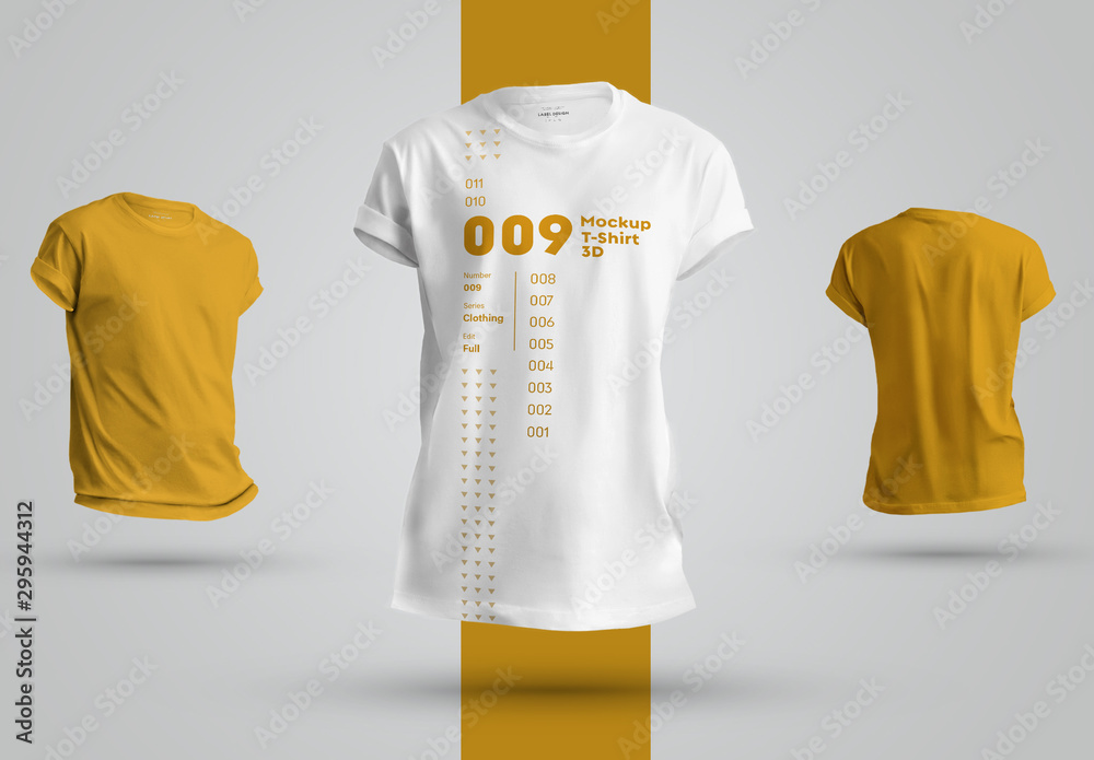 Fototapeta 3 T-Shirt Mockups