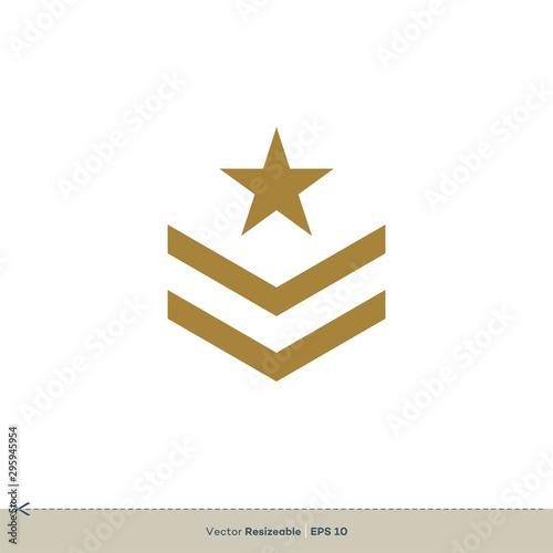 Pinturas sobre lienzo  Star Badge Emblem Vector Logo Template Illustration Design